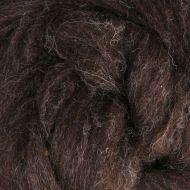Wool Sliver - Dark brown - natural
