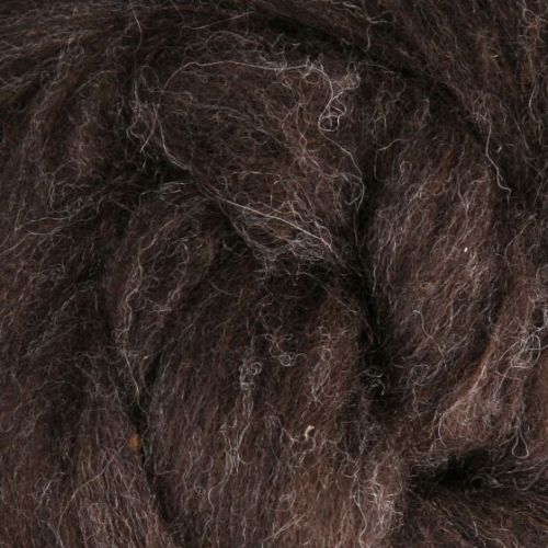 Wool Sliver - Dark brown - natural M