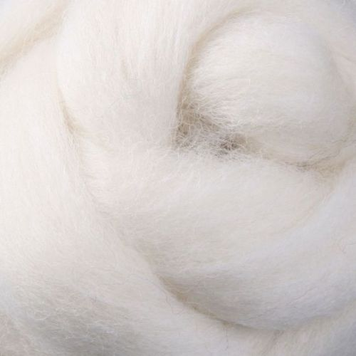 Wool Sliver - White / cream Natural M