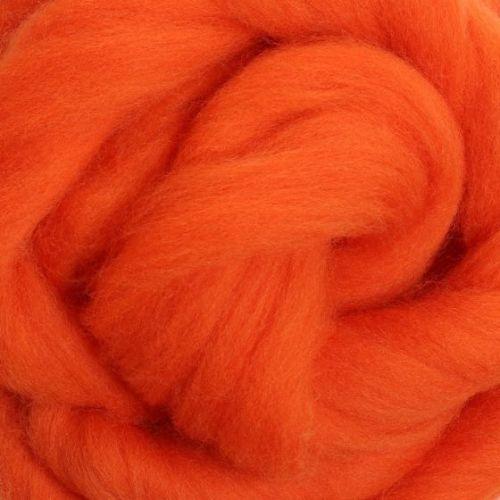 Wool Sliver - Orange