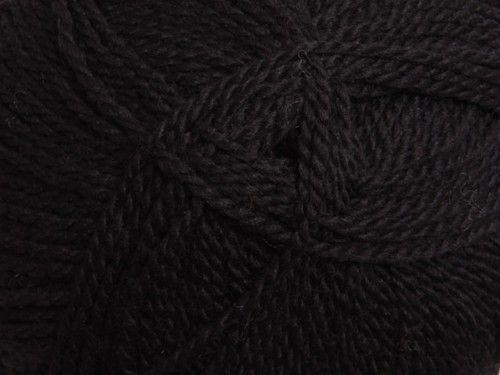 Tekapo Yarn 3ply 911 Black 100gm ball