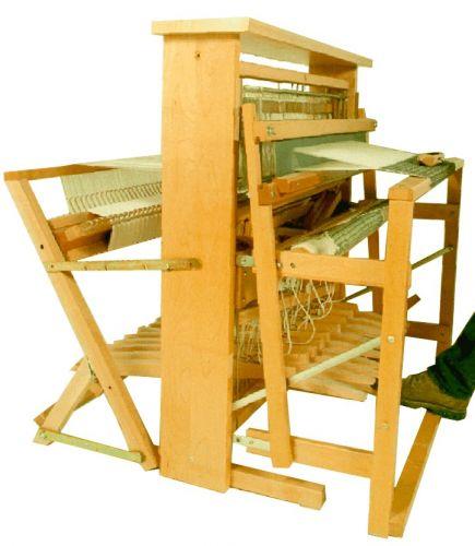"Artisat Floor Loom 36"" 8shaft - Back Hinged Treadles by Leclerc Looms Canada"