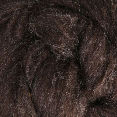 Wool Sliver - Dark brown - natural