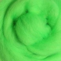 Wool Sliver - Fluro Lime
