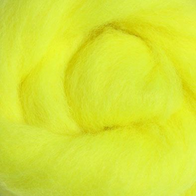 Wool Sliver - Fluro Yellow C