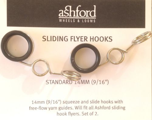 Hooks for Ashford Sliding Hook Flyers - standard 14mm