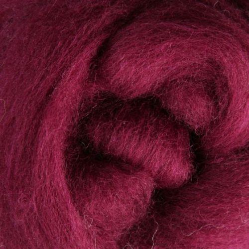 Wool Sliver - Raspberry C