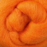 Wool Sliver - Tangerine