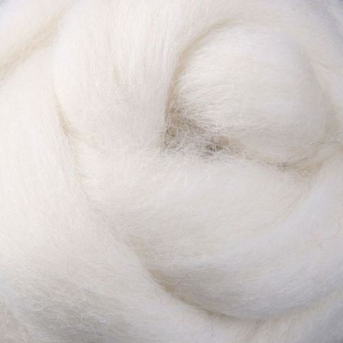 Wool Sliver - White / cream Natural